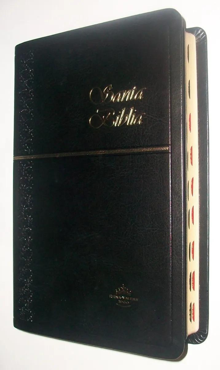 Biblia RVR60 Tipo Agenda Imitación Piel Indice Negro
