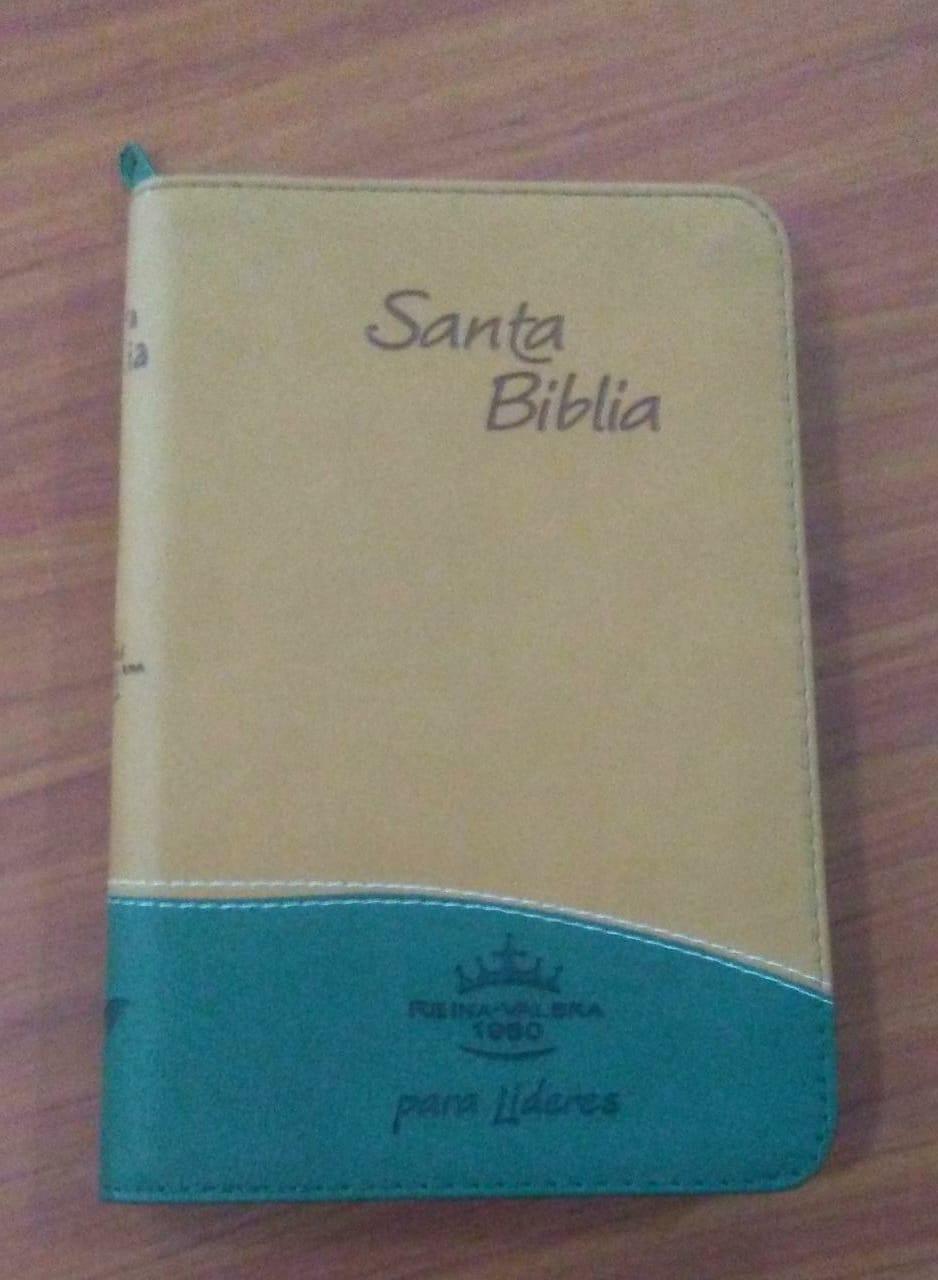 Biblia RVR Tamaño 065CZTI Tipo Agenda Para Lideres/Verde-Terracota