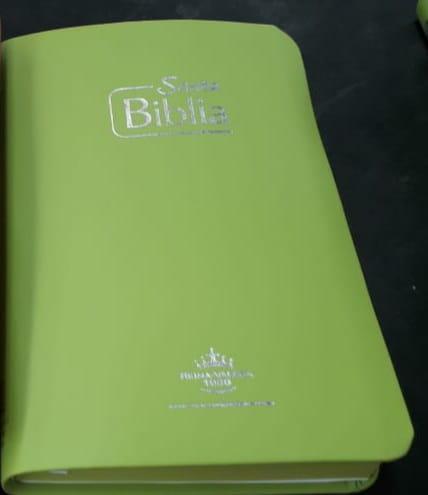 Biblia RVR Tamaño 065e Verde Canto Verde