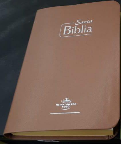 Biblia RVR Tamaño 065e Café Canto Amarillo