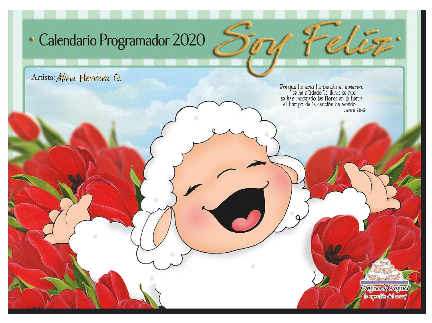 Calendario Ovejitas Soy Feliz 2020