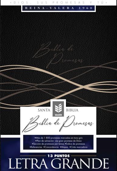 Biblia De Promesas-RVR60-Letra Grande-Negro-Indice