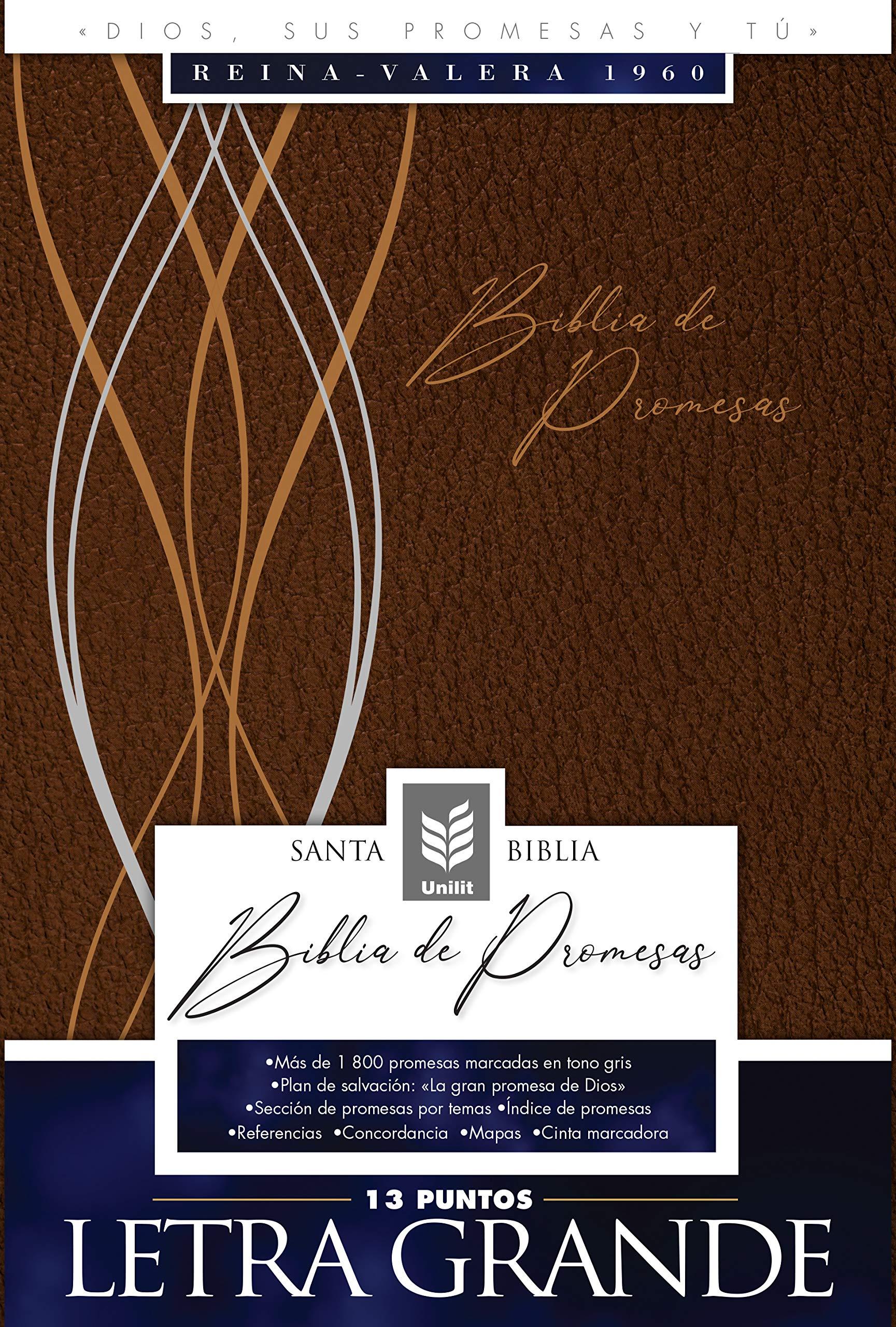 Biblia De Promesas-RVR60-Letra Grande-Cafe-Indice