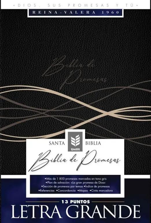 Biblia De Promesas/RVR60/Letra Grande/Negro
