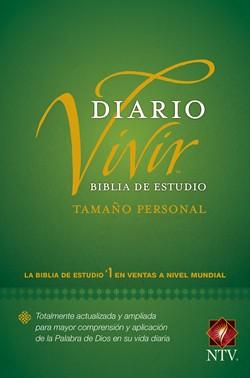 Biblia De Estudio Diario Vivir NTV Tamaño Personal Tapa Dura Verde