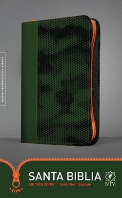 Biblia NTV Edición Zipper Verde Bosque