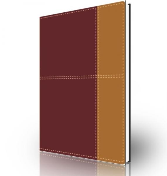 Biblia de referencia Thompson NVI, dos tonos italiano, Rojo oscuro/café