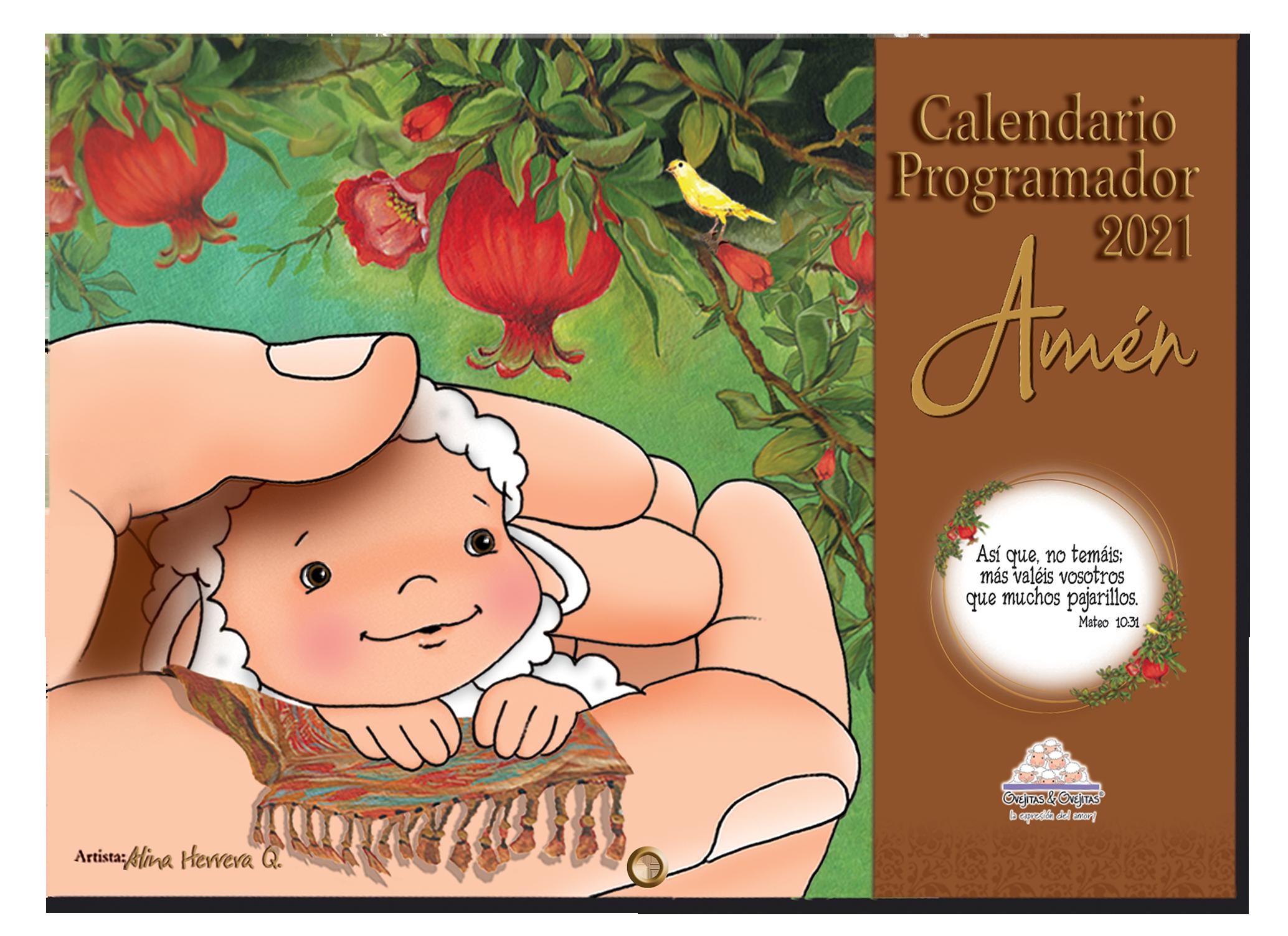 Calendario Programador Ovejitas Amen 2021