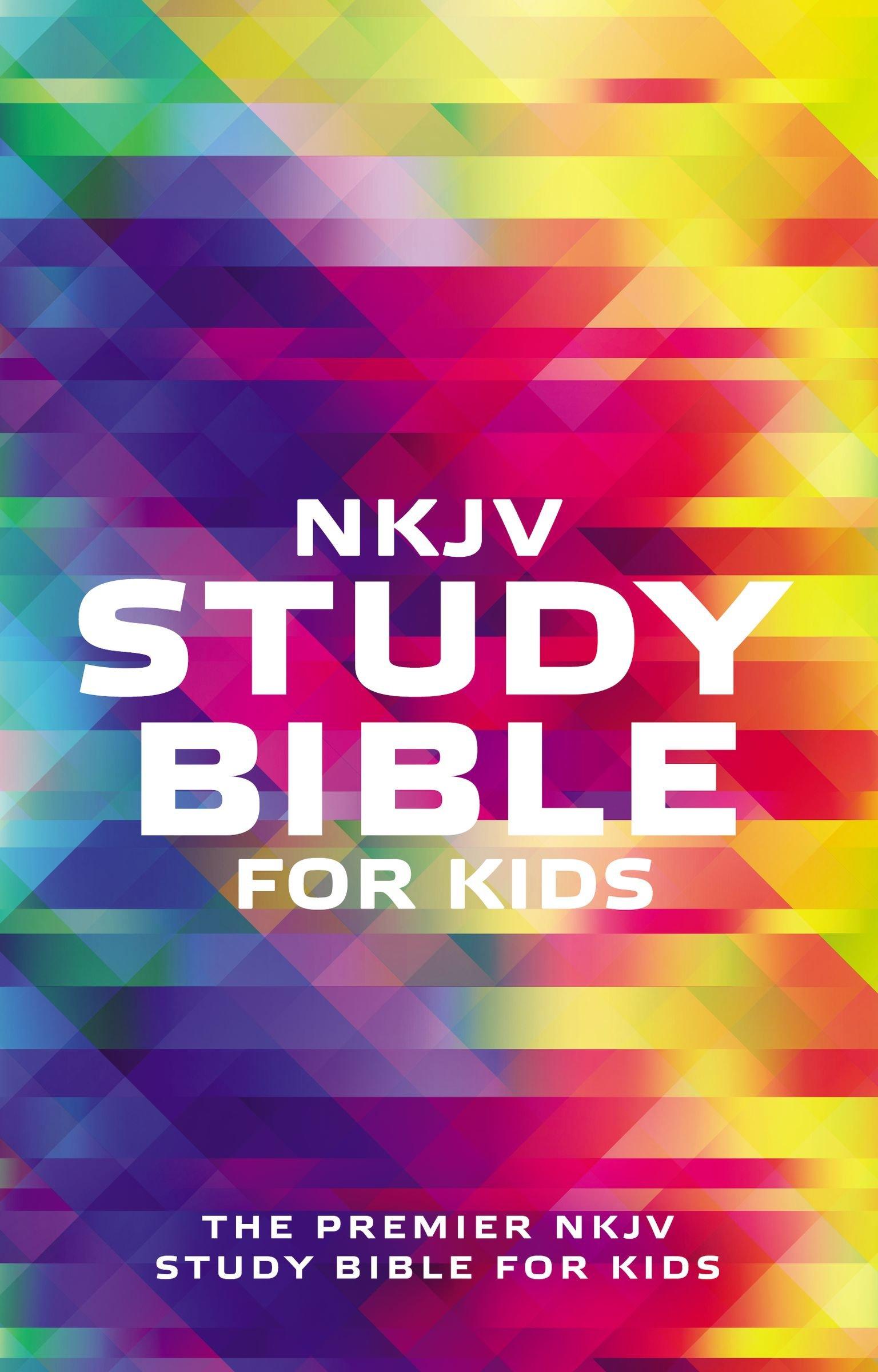 Biblia NKJV/De Estudio Para Niños/Multicolor/Ingles
