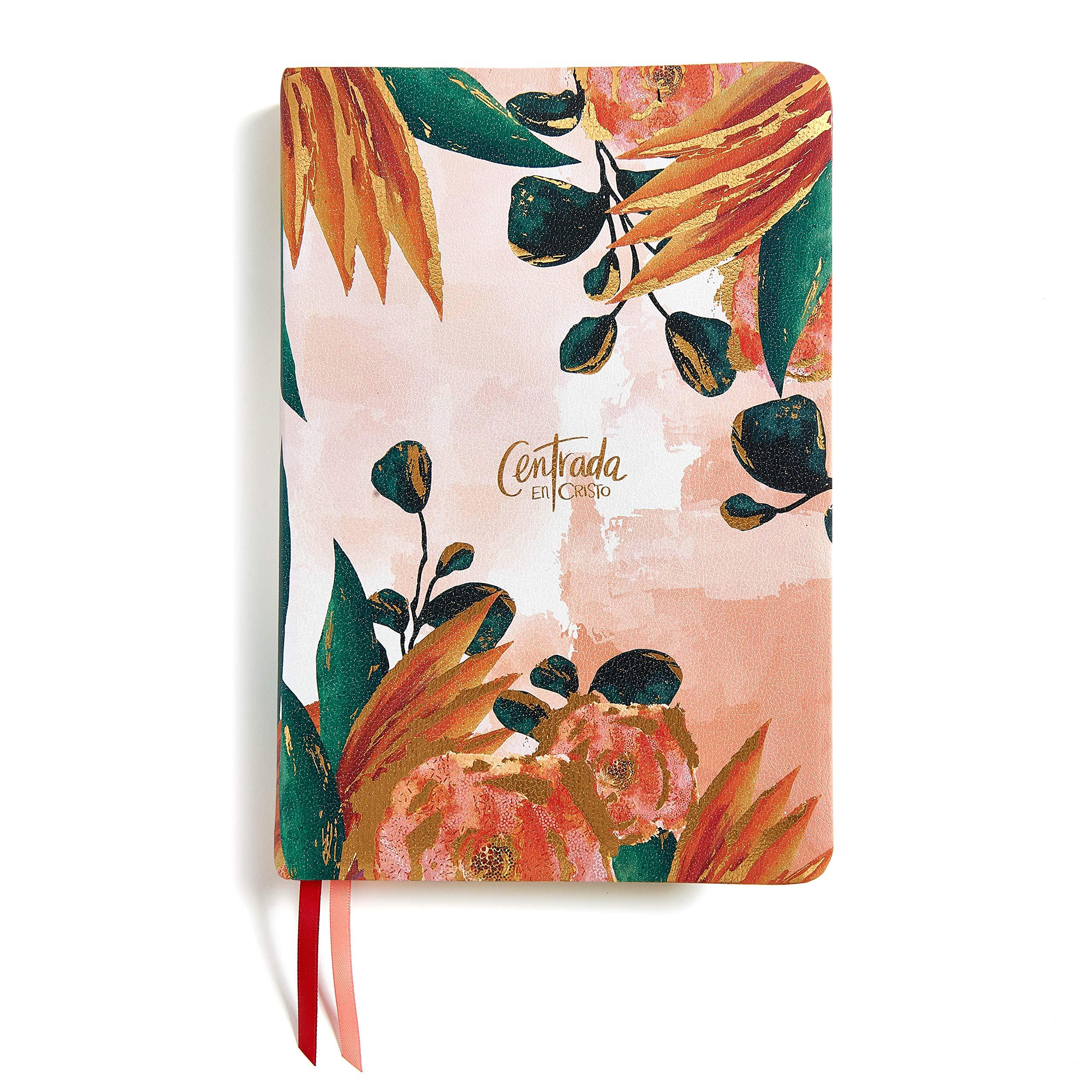 Biblia RVR60/Centrada En Cristo/Floral/Simil Piel/Con Indice