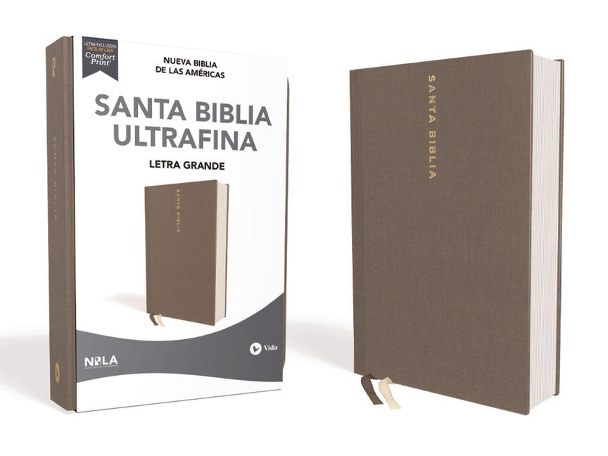 Biblia NBLA/Ultrafina/Letra Grande/Tamaño Manual/Tapa Dura/Tela/Gris