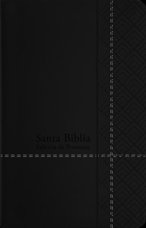 Biblia RVR60/De Promesas/Tamaño Manual/Negro/Imitacion Piel