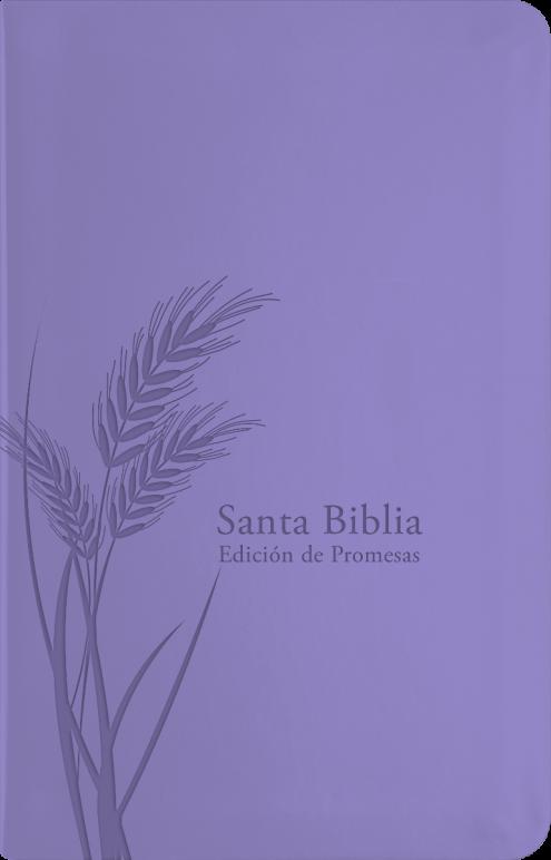 Biblia RVR60/De Promesas/Tamaño Manual/Lavanda/Imitacion Piel