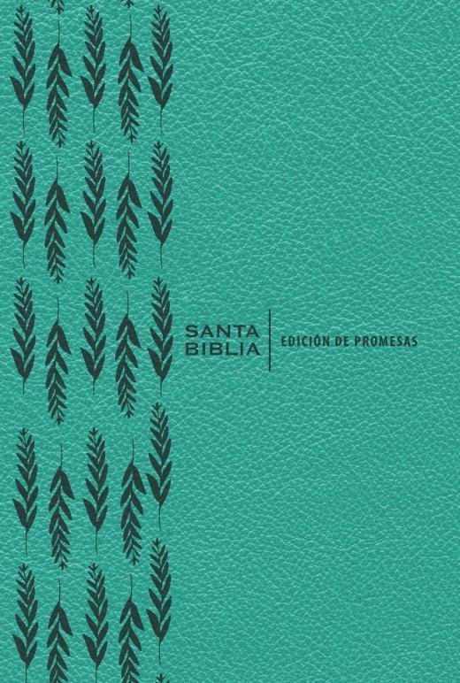 Biblia RVR60 De Promesas/Letra Grande/Turquesa/Indice/Imitacion Piel