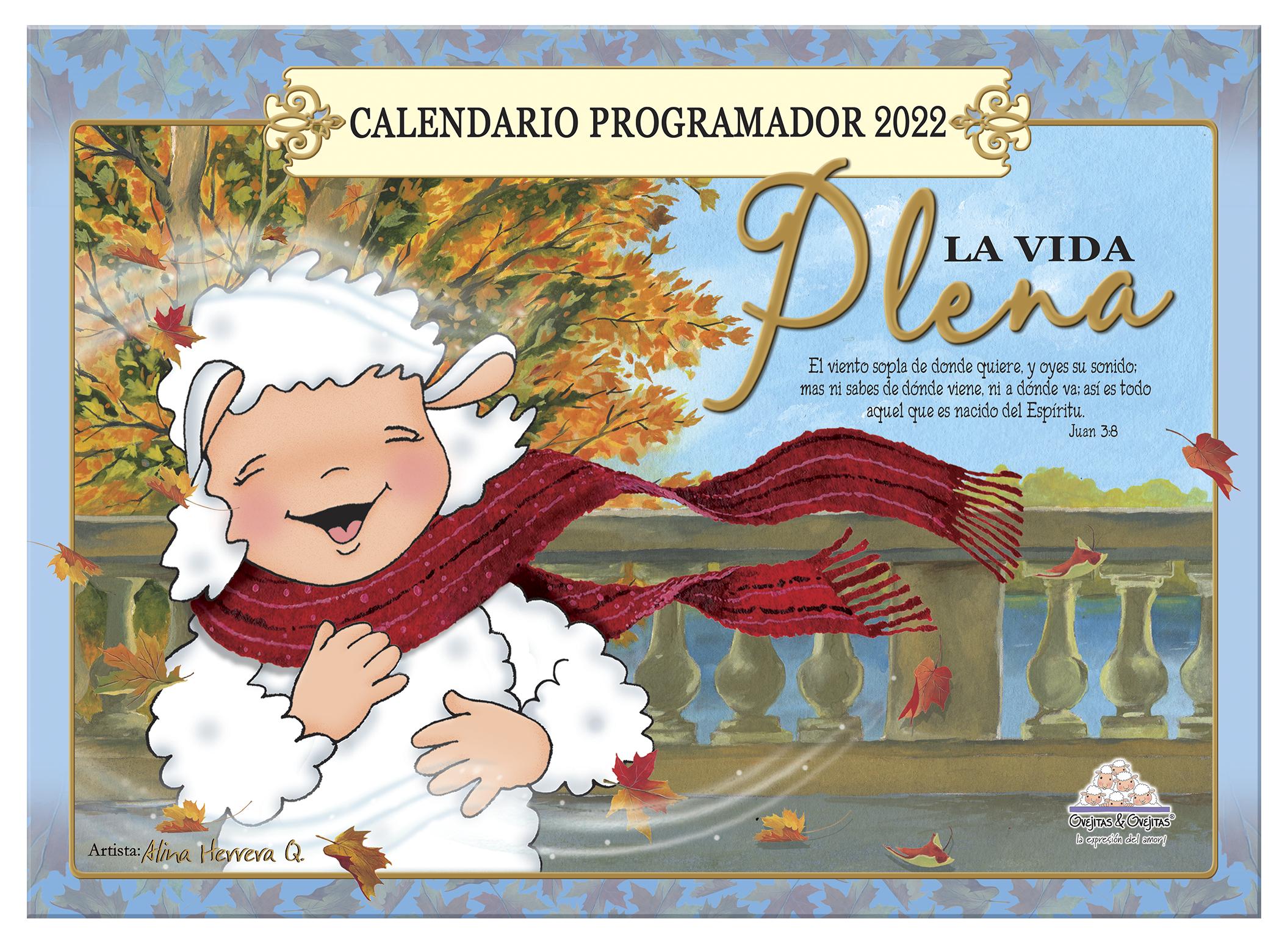 Calendario Ovejitas La Vida Plena 2022 / Programador