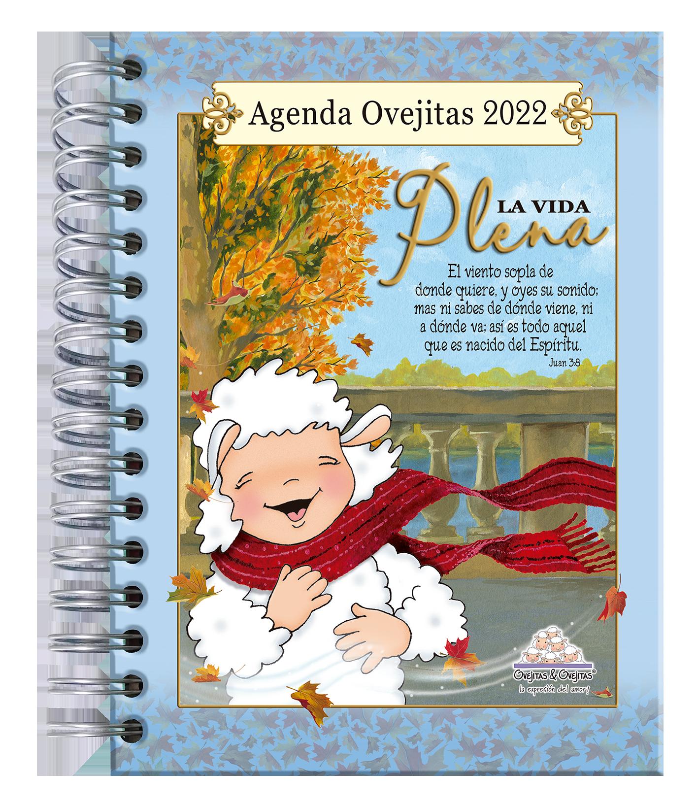 Agenda Ovejitas La Vida Plena 2022 Azul
