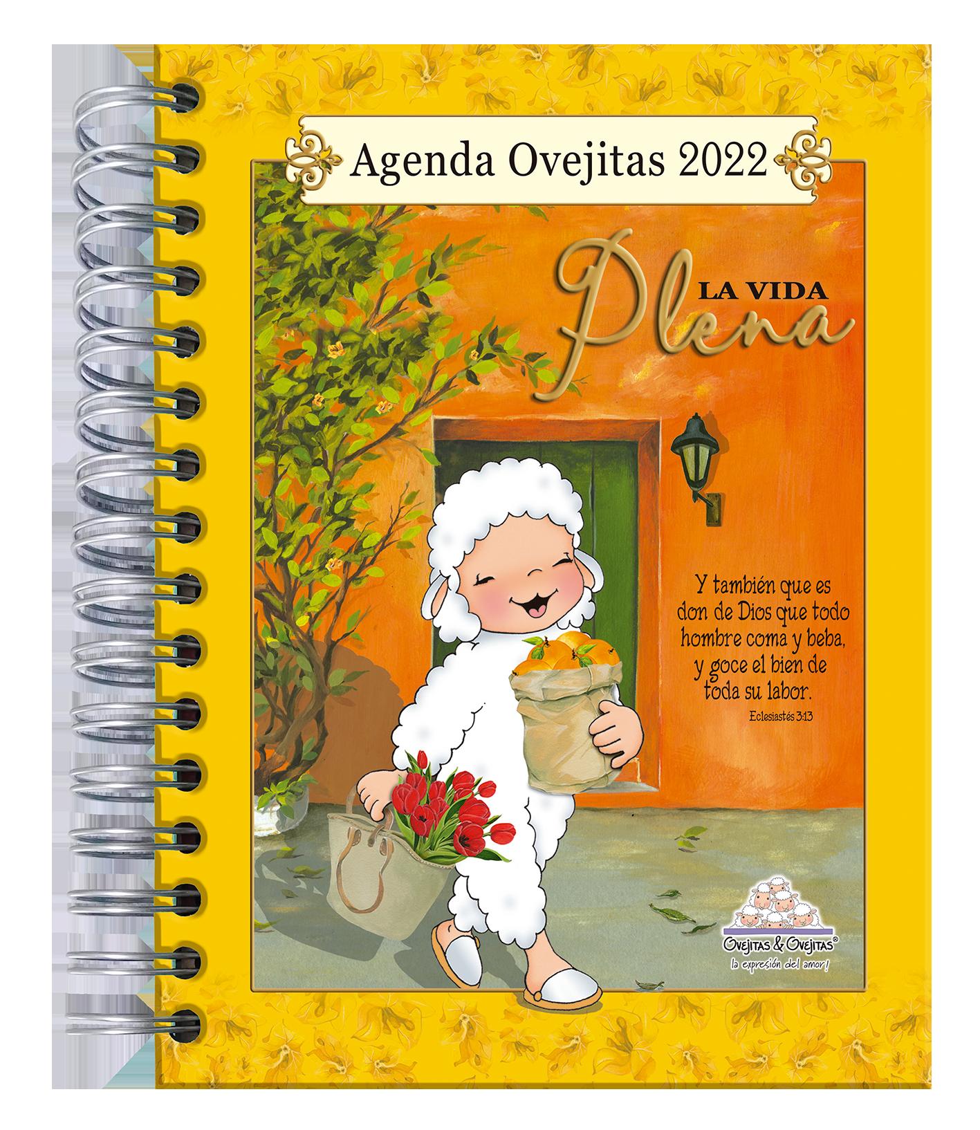 Agenda Ovejitas La Vida Plena 2022 Amarilla