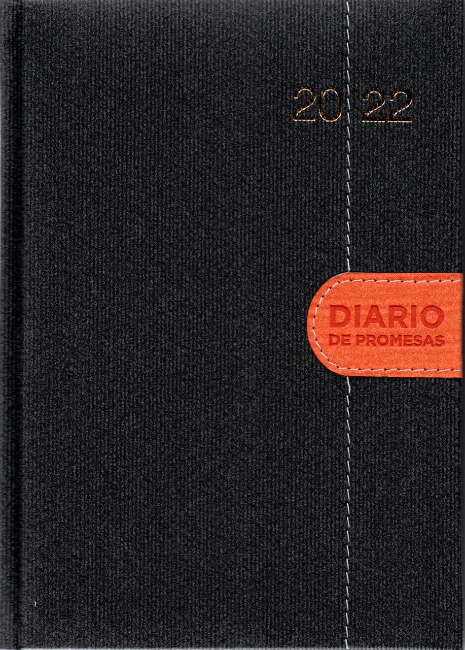 Agenda Diario De Promesas 2022 Hombre Gris Naranja