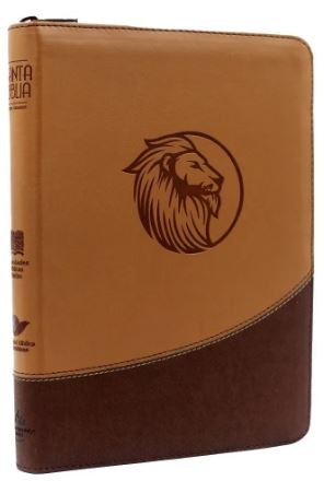 Biblia/RVR086cZLGi / Beige Cafe/ Cierre Letra Gigante