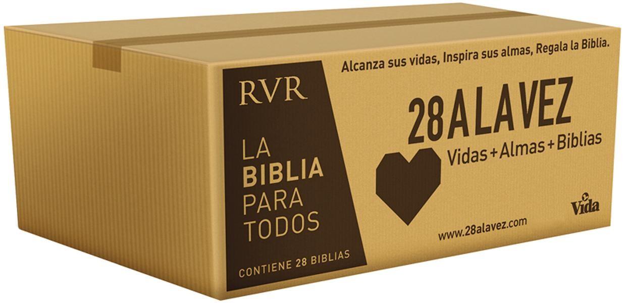 Caja de Biblias misioneras RVR - 28 A la vez